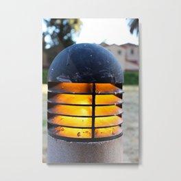 Walkway Light Metal Print