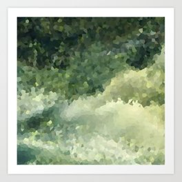 The green background .Storm . Art Print