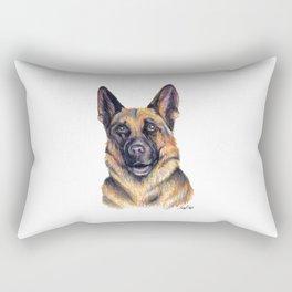 German Shepard - Dog Portrait Rectangular Pillow