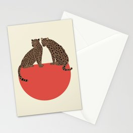 Leopards and shape Stationery Cards