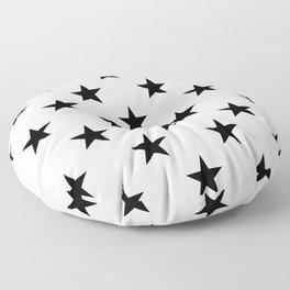 Stars (Black/White) Floor Pillow