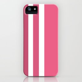 Striped Ombre in Cotton Candy Pink iPhone Case