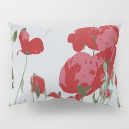 Poppy Field Of Remembrance Vector Pillow Sham