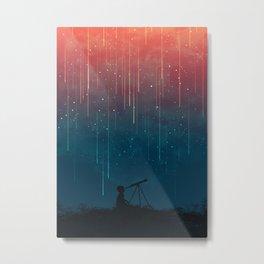 Meteor rain Metal Print