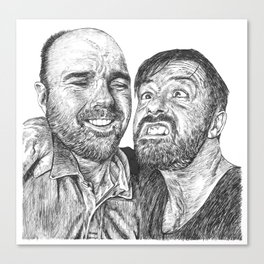 Karl Pilkington - Ricky Gervais, we need more of them! Canvas Print