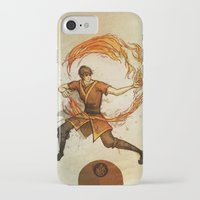 zuko iPhone & iPod Cases featuring Fire by Madalyn McLeod