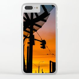 Prague's Dancing House Sunset Clear iPhone Case