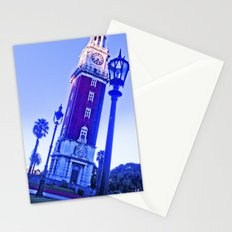 The clock, blue sky, time passes. Stationery Cards