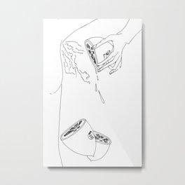 Natural Deodorant/Fresh Metal Print