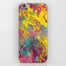 Abstract TexTure Uno - Pink, Purple, Blue And Yellow iPhone Skin