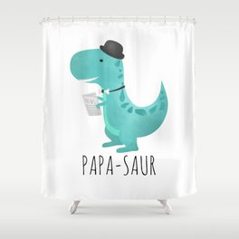 Papa-saur Shower Curtain