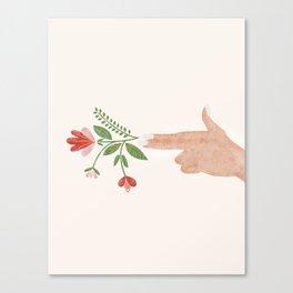 Floral Pistol Canvas Print