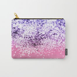 Mermaid Girl Glitter #1 #pink #blue #ombre #decor #art #society6 Carry-All Pouch
