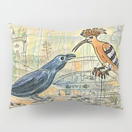 The Crow and the Hoopoe Pillow Sham