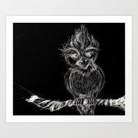 Owl Thought Art Print