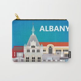 Albany, New York - Skyline Illustration by Loose Petals Carry-All Pouch