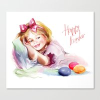 easter Canvas Prints featuring Easter by tatiana-teni