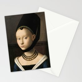 Portrait of a Young Girl by Petrus Christus, 1470 Stationery Cards
