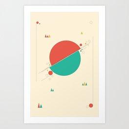 Circles and Angles Art Print