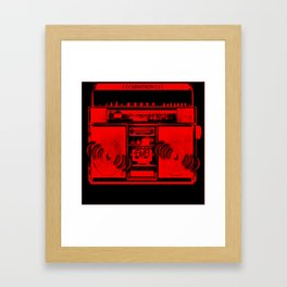BEATBOX In Red! Framed Art Print