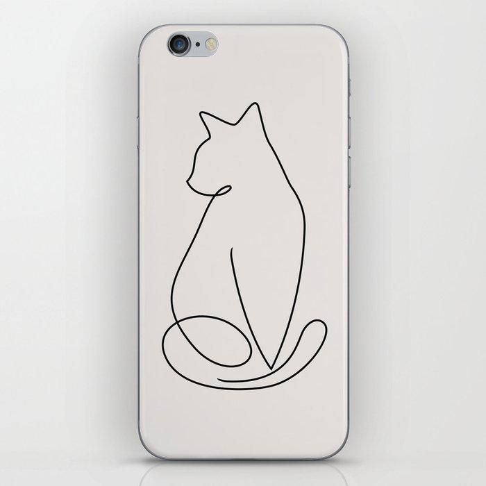 One Line Kitty iPhone Skin