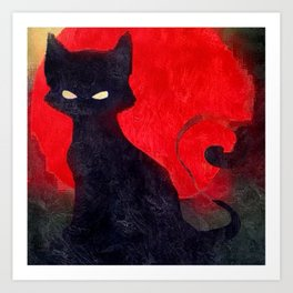 Cat Noir Art Print