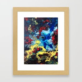 The Storm - an abstract impression Framed Art Print