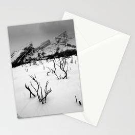 Red Rocks in the Snow Stationery Cards