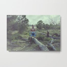 The blue boy Metal Print