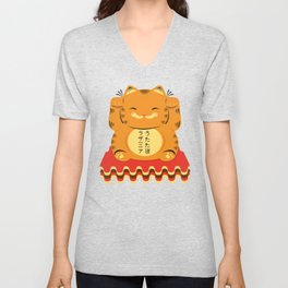 Lucky Garfield Unisex V-Neck