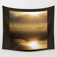 breathe Wall Tapestries featuring Breathe by DebS Digs Photo Art