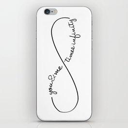 Infinite love iPhone Skin