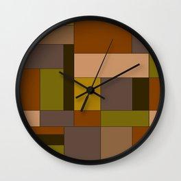 Abstract #370 Mondrian #6 Wall Clock