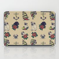 pugs iPad Cases featuring Pugs and the sea by Huebucket