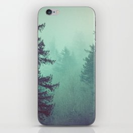 Forest Fog Fir Trees iPhone Skin