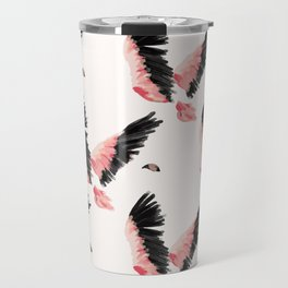 Flamingo - pink and black flight pattern Travel Mug