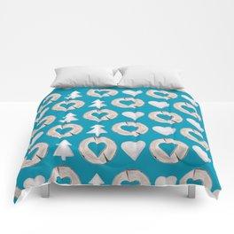 Xmas Classics Teal Comforters