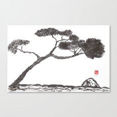 Tree and Stone Canvas Print