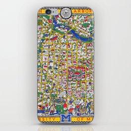 ANN ARBOR University map MICHIGAN dorm iPhone Skin