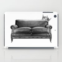 sofa iPad Cases featuring Sofa King by sustici