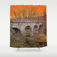 virginia Shower Curtains featuring Virginia Bridge by Andooga Design