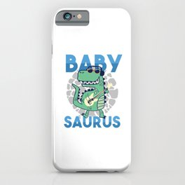 Kids Children Trex Dinosaur Dino Gift Babysaurus iPhone Case