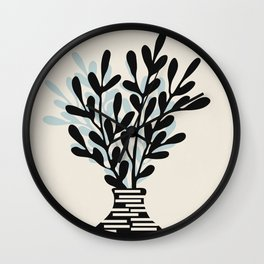 Still Life with Vase and Tree Branches Wall Clock