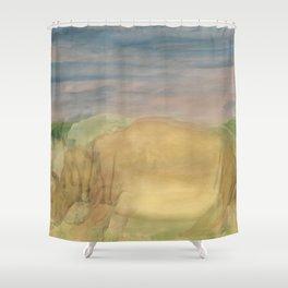 The Last Rhino Shower Curtain