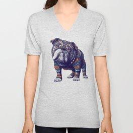 English Bulldog (Color Version) Unisex V-Neck