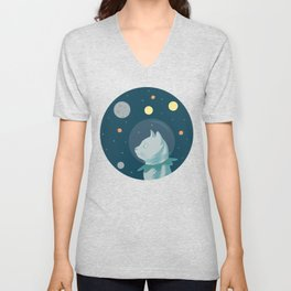 Dreaming about Space Unisex V-Neck