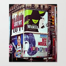 New York City Broadway Signs Canvas Print