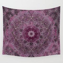 Vintage Merlot Lace Mandala Wall Tapestry