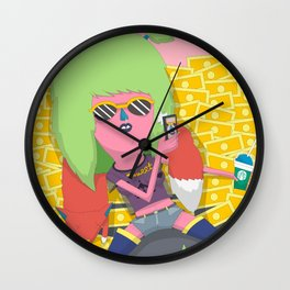 ATTENTION WHORE Wall Clock