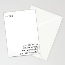 Darling, you are loved Stationery Cards